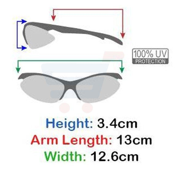 Xsportz Semi Rimless Sport Sunglasses Gun Metal Frame For Unisex, XS72