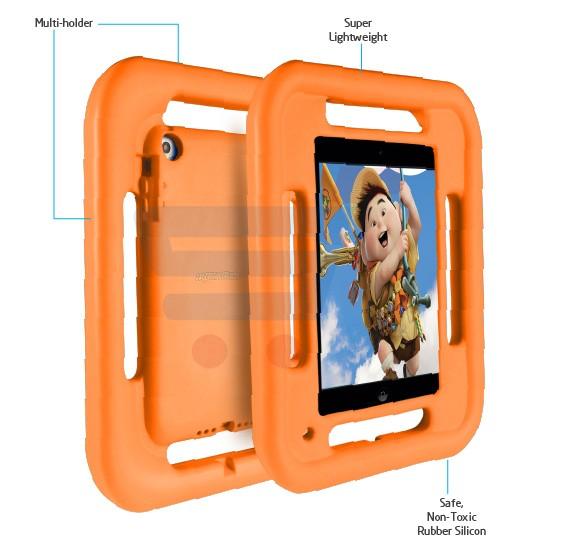 Promate FellyMini Multi-grip shockproof Impact resistant case Orange - FellyMini.Orange