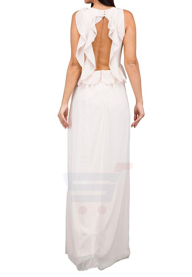 TFNC London Soledo Maxi Dress Nude - CTT 6415 - L