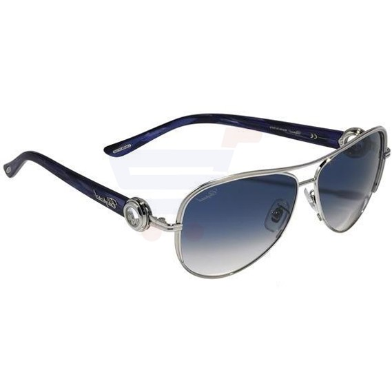 Chopard Oval Palladium W/Matt Parts Frame & Blue Gradient Sunglass - SCHA60S-0589