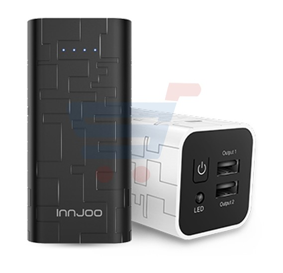 Innjoo Cube 2,10400mAh PowerBank,Dual Port-White
