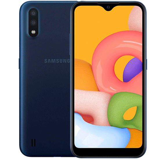 2 in 1 Smart Combo Offer Samsung Galaxy A01 Dual SIM 2GB RAM 16GB 4G LTE-Blue with Samsung 10000 mah fast charge power bank