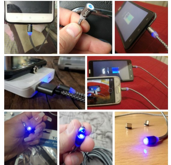 Tpok Magnetic Usb Cable for Iphone, Andriod, C-type