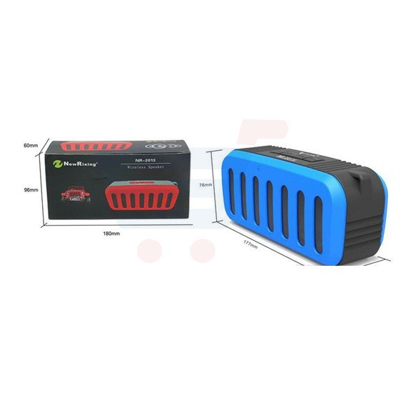 NR-2013 Mini Portable Wireless Bluetooth Sub Woofers Speaker with Mic, TF Card, FM Radio and Outdoor Loud Music Player