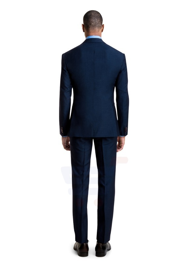 D & D Marine Blue Linen Blend Custom Suit Hero - 55008 - S - 34