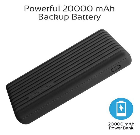 Promate 20000mAh Type-C™ Power Bank, Portable 3.1A Dual USB Fast Charging External Battery Pack with USB-C™ Input /Output Port and Over-Charging Protection for iPhone X, XS, XR, Samsung S9+/S8, Note 9, Titan-20C, Black