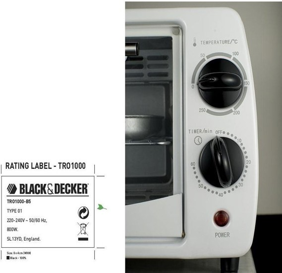 Black & Decker 9 Litre Toaster Oven, TRO1000-B5
