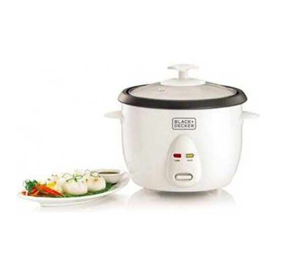 Black & Decker 1.0 Ltr. Non Stick Rice Cooker with Glass Lid, RC1050-B5