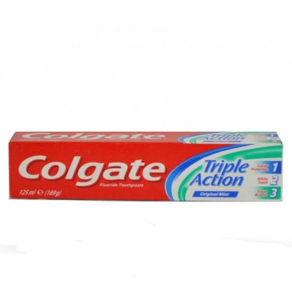 Triple Action Original Mint Toothpaste 125 Mililitre
