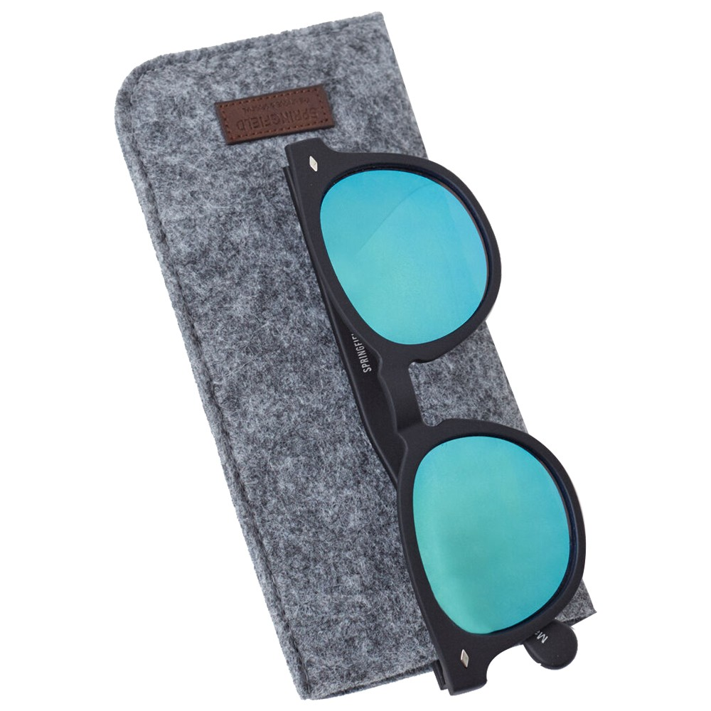 Sprinfield Sunglass Black With Blue Lens
