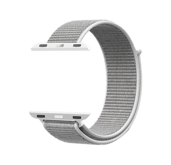 Promate Fibro-42 Sports Loop Band for Apple Watch 42mm/44mm, White