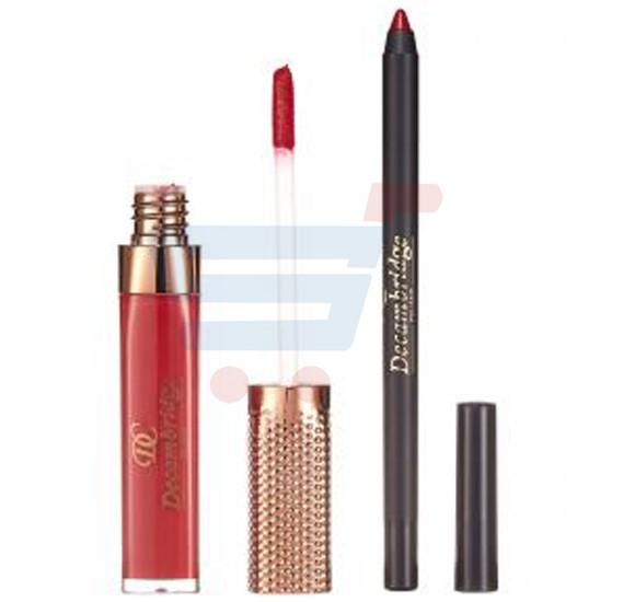 Decambridge Dark Reddish Pink Matte Liquid Lipstick and Lip Liner, LP16