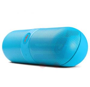 FIVESTAR F-808 Pill Design Multi-Function HiFi Bluetooth Speaker with MIC Support - Blue
