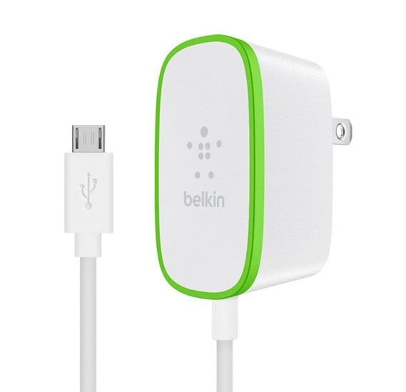 Belkin Wall Charger with Hardwired Micro Usb Cable, 2.4amp