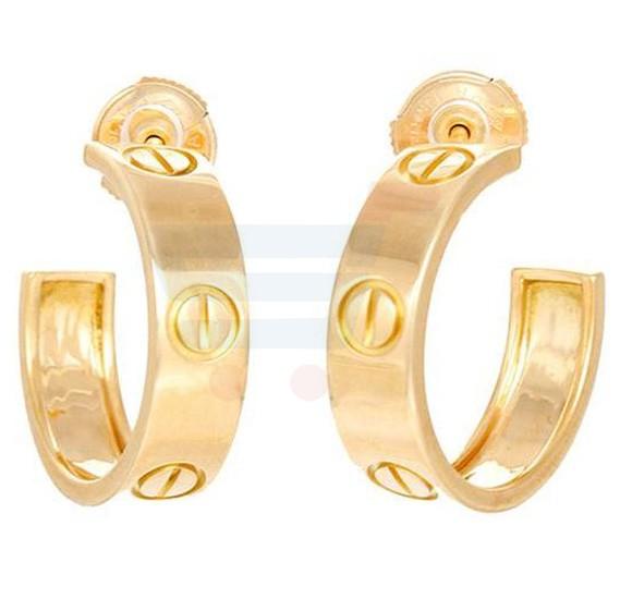 Stainless Steel Love Stud Earring For Women