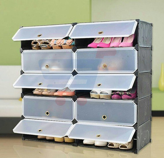 Shoe Rack Powder Easy Multi Layer Resin Shoe Storage Cabinet Easy Assembly With Modular Environment