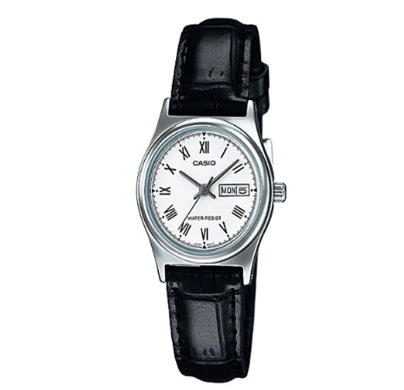 Casio Leather Strap Watch For Women, LTP-V006L-7BUDF