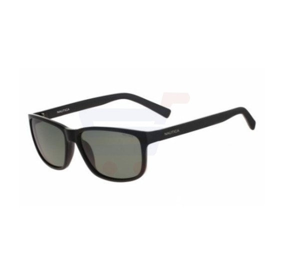 Nautica Rectangular Black Frame & Green Gradient Mirrored Sunglasses For Unisex - N3611SP-001