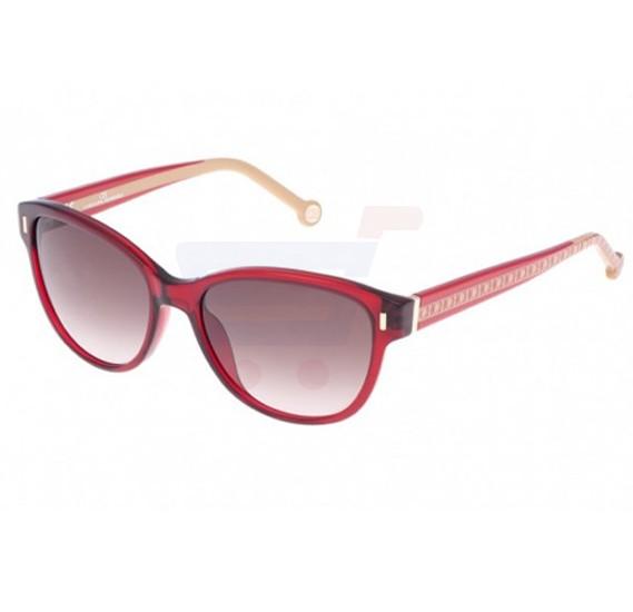 Carolina Herrera Wayfarer Red Beige Frame & Brown Gradient Mirrored Sunglasses For Women - SHE597-0954