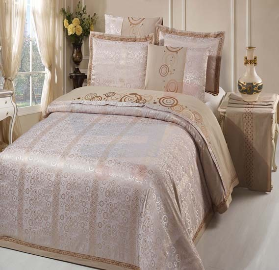 Senoures 100% Cotton Jacquard Quilt Cover 6Pcs Set King - SEJ-047