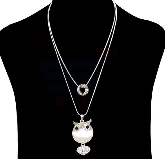Fashion Jewelry Owl Necklace NO.FJ-402