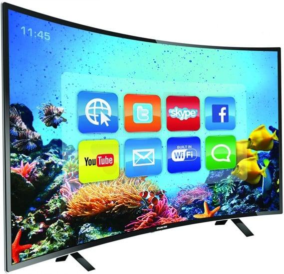Nikai 43 Inch Full HD LED Smart Curved TV Black NTV4300CSLED
