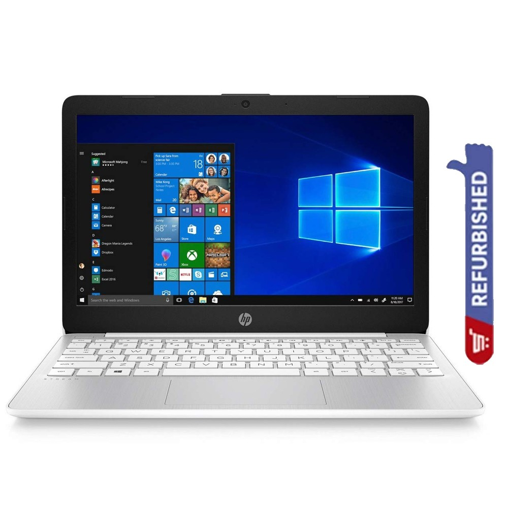 HP Stream 11 Notebook, 11.6 Inch Display, Celeron N4000 Processor, 4GB RAM 32GB eMMC Storage, Win10, Refurbished