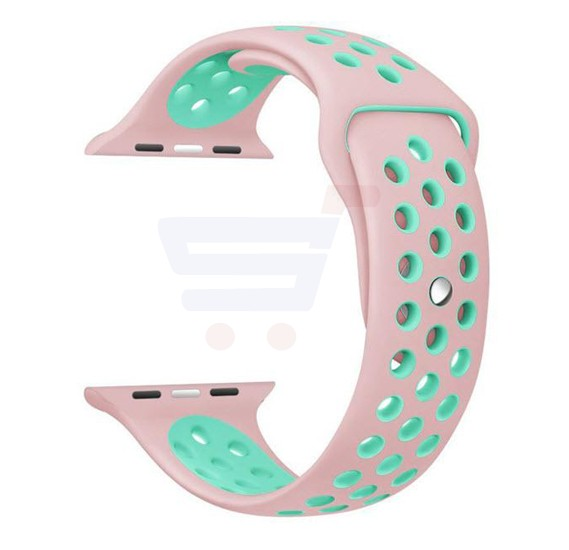 Silicone Strap Wristband For Nike Apple Watch 38MM Band - Pink Mint Green