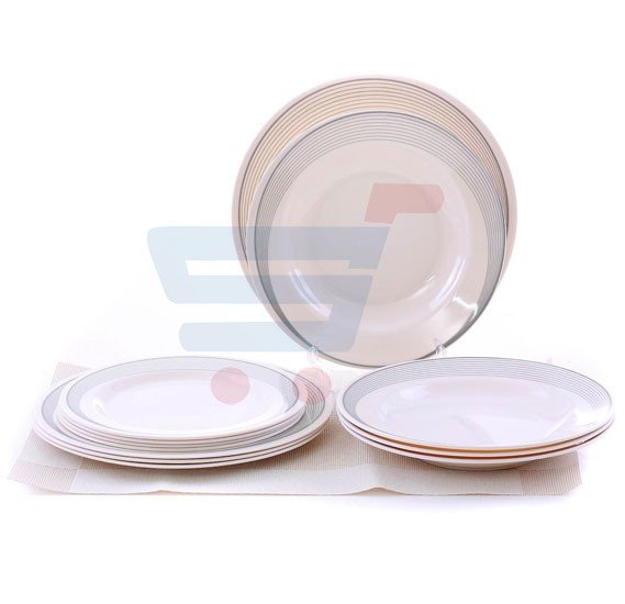 Epsilon EN3646 12 Pieces Melamine Ware Dinner Set