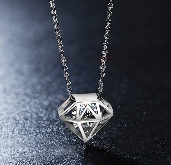 Tiara Elements Transparent Crystal In A Cage Necklace - UN0115B
