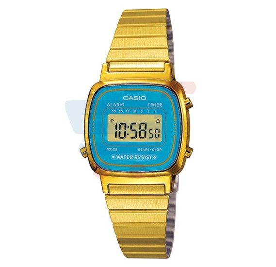 Casio LA-670WGA-2D Gold Stainless Steel Ladies Watch