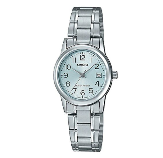 Casio Stainless Steel Watch For Women, LTP-V002D-2BUDF