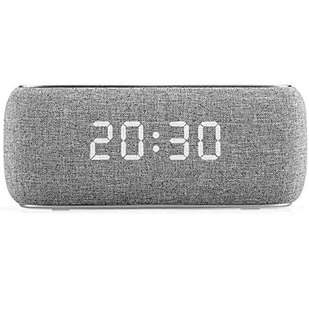 Havit M29 Fabric Speaker V4.2 Bluetooth Speakers With Alarm Clock, Grey