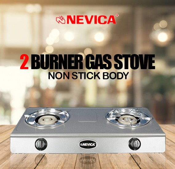Nevica 2 Burner Gas Stove, Non Stick Body - NV-842GS