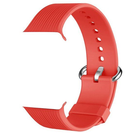 Promate Silica-42 Silicone Watch Strap, Red