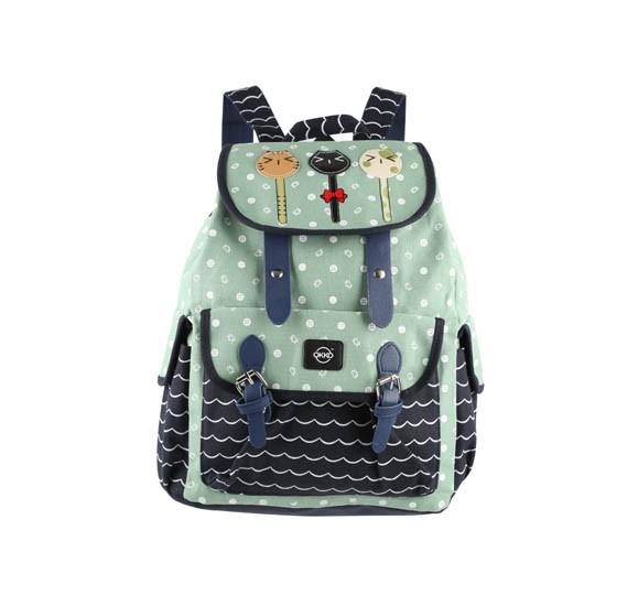 Okko Sports Printed Backpack Green-36406
