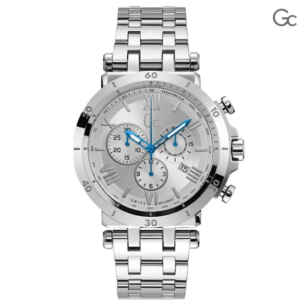 Gc Mens Watch Silver, Y44004G1