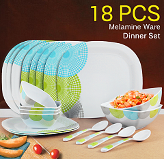 Olympia Melamine Ware Dinner Set 18 Pcs, OE-18003