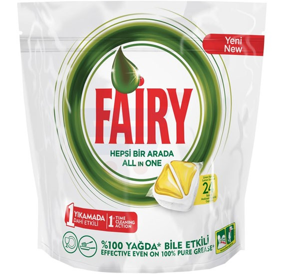 Fairy Lemon All In One Auto Dish Wash 24 Capsules