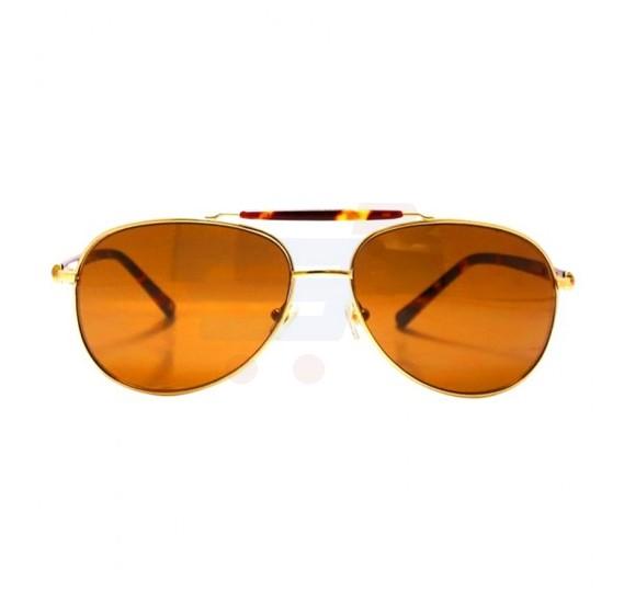 Aigner Aviator Havana Frame & Brown Mirrored Sunglasses For Men - AI-SM-03A
