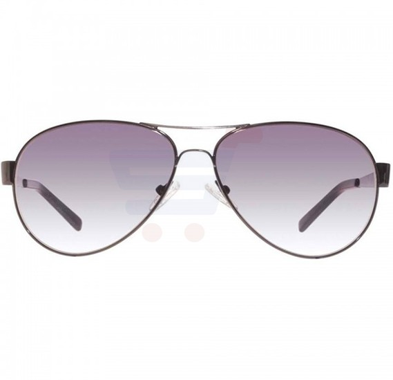 Guess Aviator Black Frame & Grey Gradient Mirrored Sunglasses For Unisex - GU6827-08B