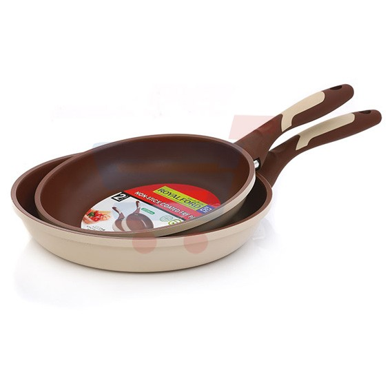 Royalford 2Pc Non-Stick Coated Fry Set 22x26CM - RF7351