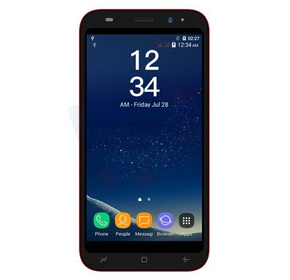 Crescent S8 4G Smart Phone, 5 Inch HD Display, Android 6.0 OS, 2GB RAM, 16GB Storage, Dual SIM, Dual Camera - Red