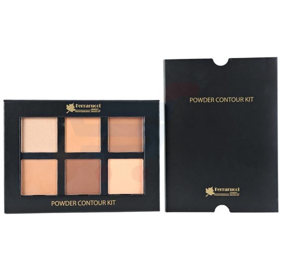 Ferrarucci Powder Contour Kit 28g, Dark 6