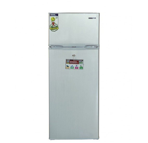 Geepas Double Door Refrigerator 240L - GRF2400SXE