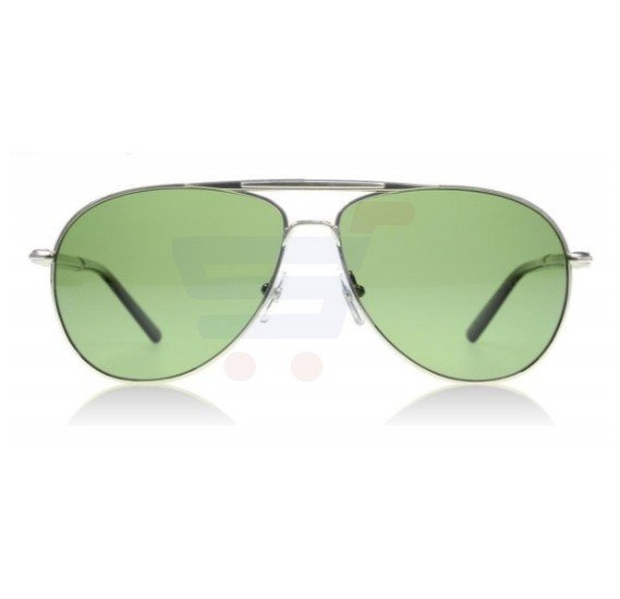 Mont Blanc Aviator Silver/Black Frame & Green Mirrored Sunglasses For Unisex - MB512S-16R