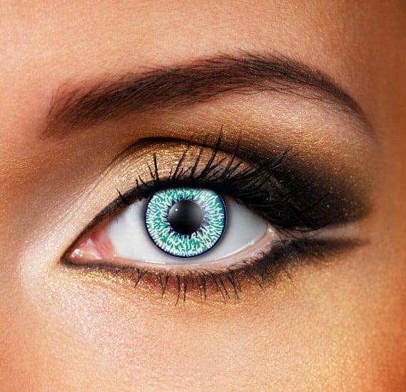 Aqua Mystic Colour Eye Contact Lense Made In The Uk