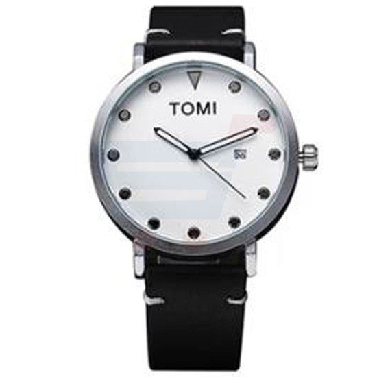 Tomi Analog Quartz Mens Watch T074, Black White