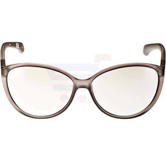 Calvin Klein Oval Brown Frame & Clear Mirrored Sunglasses For Women - CKJ784S-047