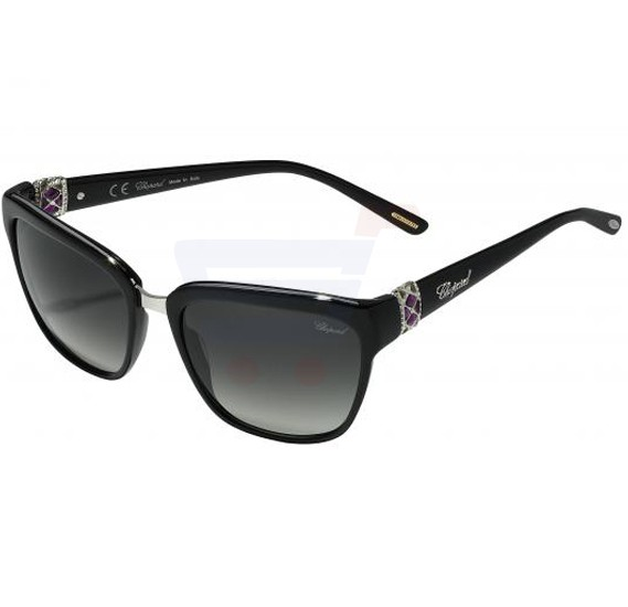 Chopard Square Black Frame & Grey Mirrored Sunglass For Woman - SCH210S-700Y